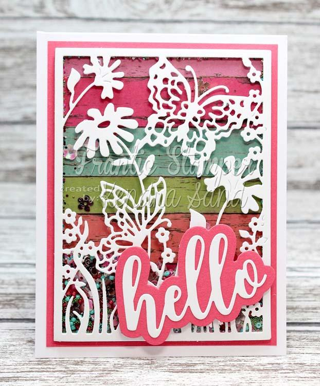 Frantic Stamper Precision Die - Giant Layered Hello
