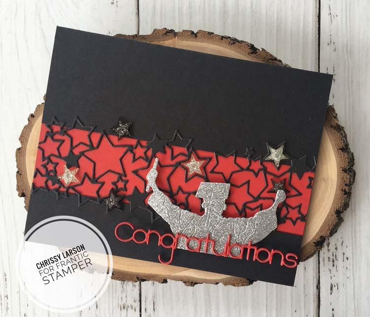 Frantic Stamper Precision Die - Layered Congrats & Block Congratulations