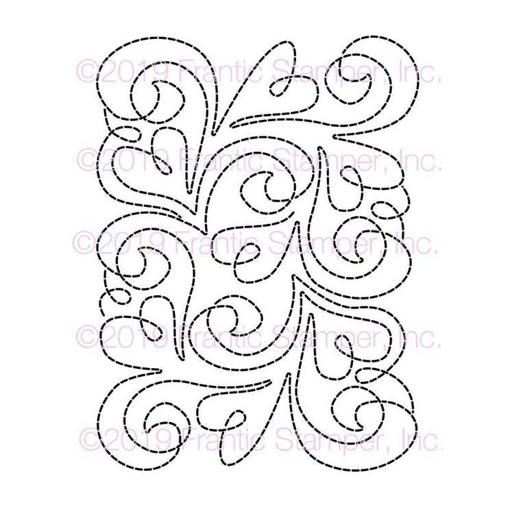 Frantic Stamper Precision Die - Stitched Sweet Swirls Card Panel