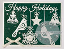 Frantic Stamper Precision Die - Folk Art Happy Holidays