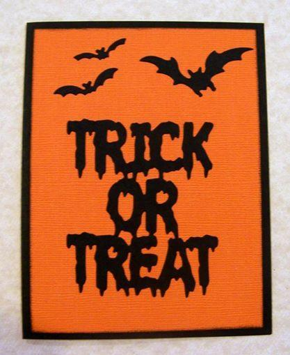 Frantic Stamper Precision Die - Trick or  Treat Word Die