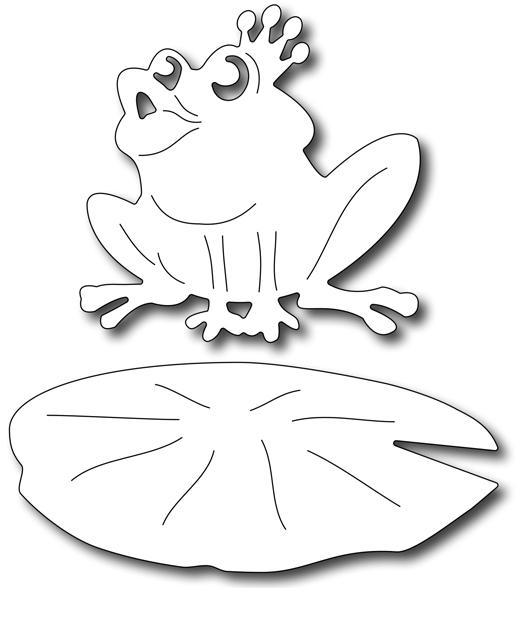 Frantic Stamper Precision Die - Frog Prince (set of 2)