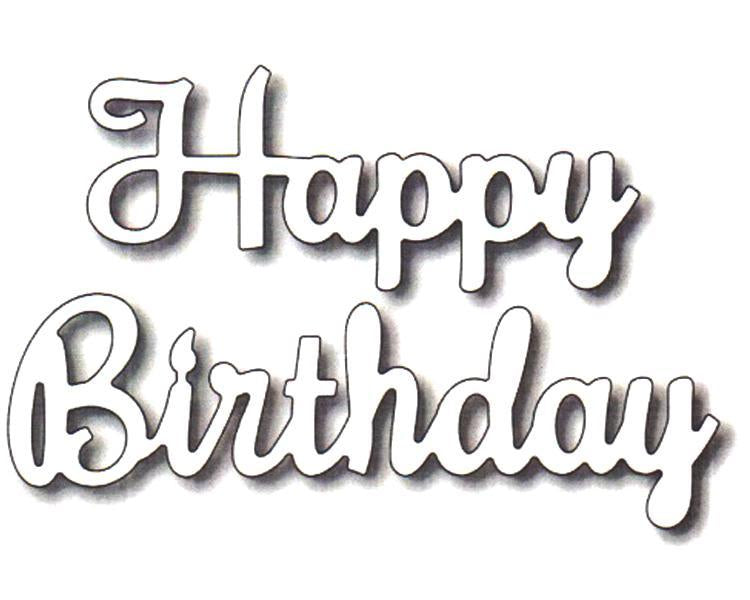 Frantic Stamper Precision Die - Happy Birthday (script)