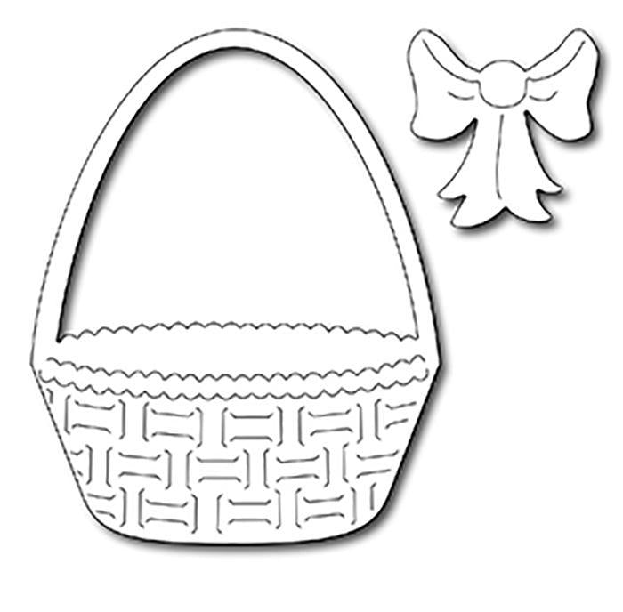 Frantic Stamper Precision Die - Easter Basket and Bow (2)