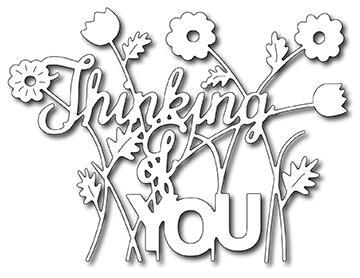 Frantic Stamper Precision Die - Floral Thinking Of You