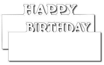 Frantic Stamper Precision Die - Happy Birthday Layer Markers (2)
