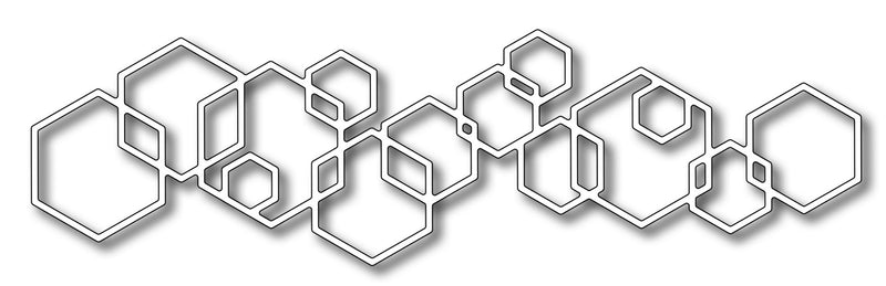 Frantic Stamper Precision Die - Linked Hexagon Border