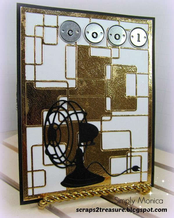 Frantic Stamper Precision Die - Retro Card Panel