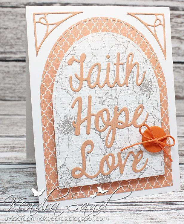 Frantic Stamper Precision Die - Faith Words