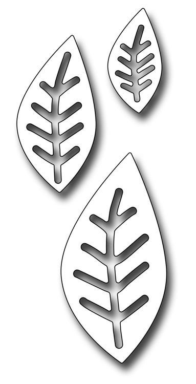 Frantic Stamper Precision Die - Primitive Veined Leaves