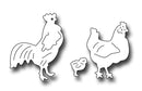 Frantic Stamper Precision Die - Rooster, Hen, and Chick