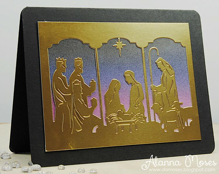 Frantic Stamper Precision Die - Triptych Nativity Card Panel