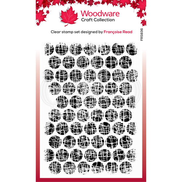 Woodware Clear Singles Textured Bubbles 4 in x 6 in Stamp
