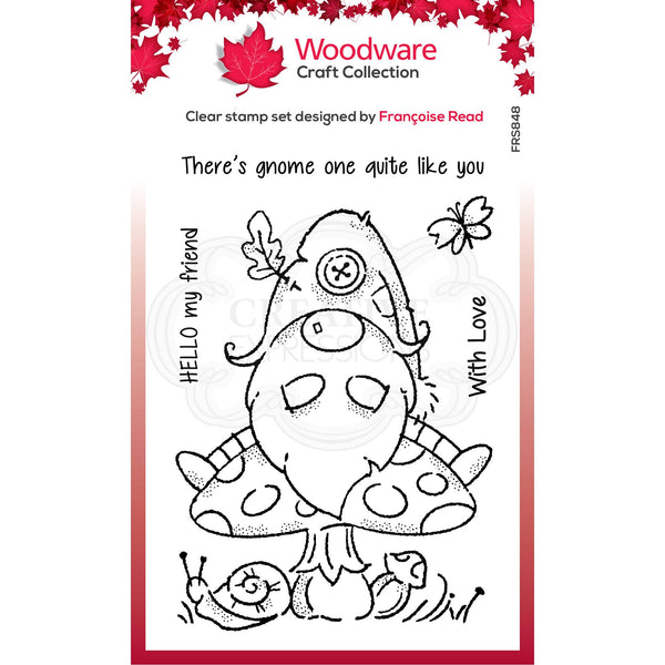 Woodware Clear Singles Forest Gnome 4 in x 6 in Stamp