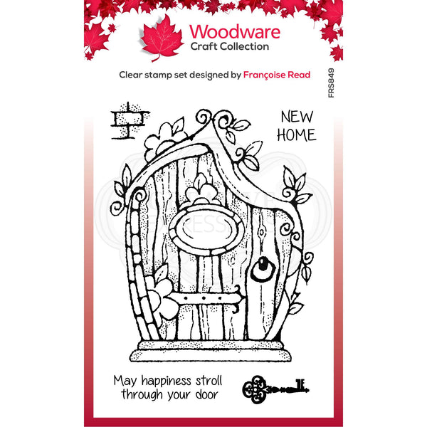 Woodware Clear Singles Fairy Door 4 in x 6 in Stamp