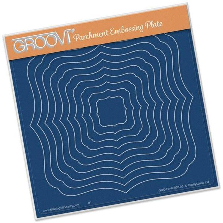 Groovi Template - Classic Frames Nested Square Plate