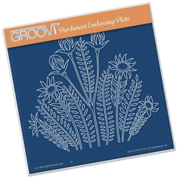 Groovi Template - Wild Flowers Square Plate