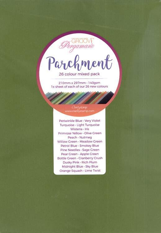 Groovi  A4 Parchment  -  Mixed Pack 26 sheets