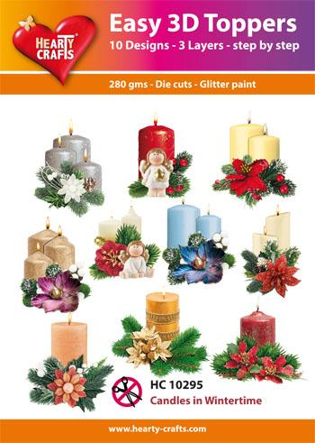 Easy 3D Toppers - Candles in Winter