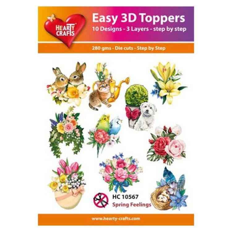 Hearty Crafts Easy 3D Toppers Spring Feelings