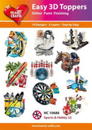 Hearty Crafts Easy 3D Toppers - Sports & Hobby 2