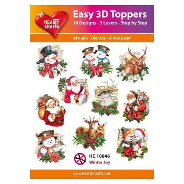 Hearty Crafts Easy 3D Toppers Winter Joy