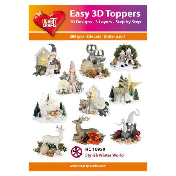 Hearty Crafts Easy 3D Toppers Stylish Winter World