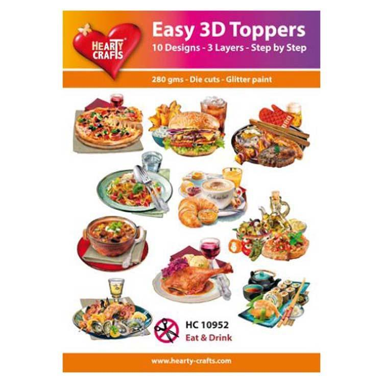 Hearty Crafts Easy 3D Toppers Eat & Drink