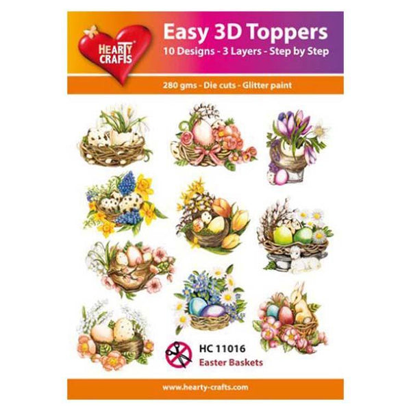 Hearty Crafts Easy 3D Toppers Easter Baskets