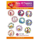 Hearty Crafts Easy 3D Toppers Spring Flower Wreath