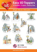 Hearty Crafts Easy 3D Toppers - Winter Scenery