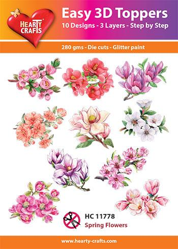 Hearty Crafts Easy 3D Toppers - Spring Flowers