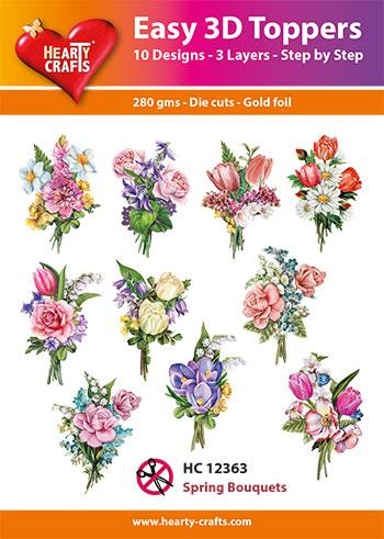 Easy 3D Toppers - Spring Bouquets