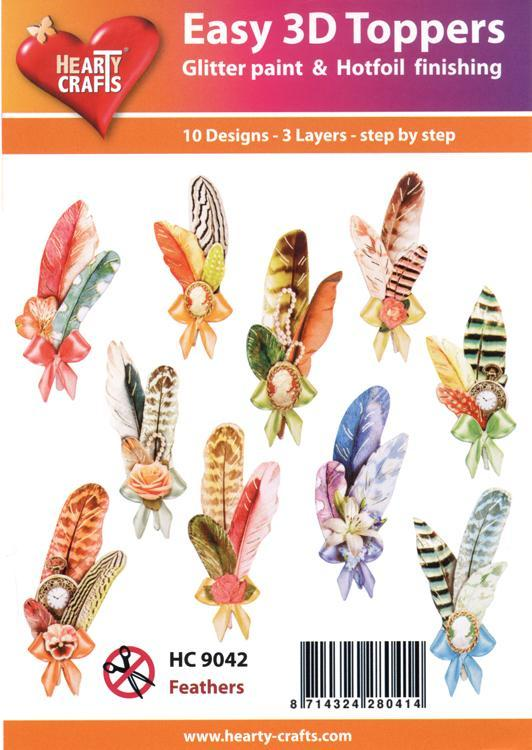 Easy 3D Toppers: Feathers