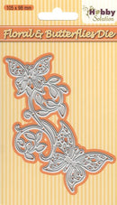 "Nellie's Choice - Hobby Solutions Die Cut ""Floral & Butterflies"""