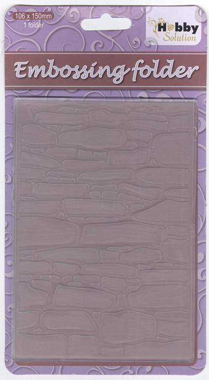 Nellie's Choice - Hobby Solution Embossing Folders - Stone Wall