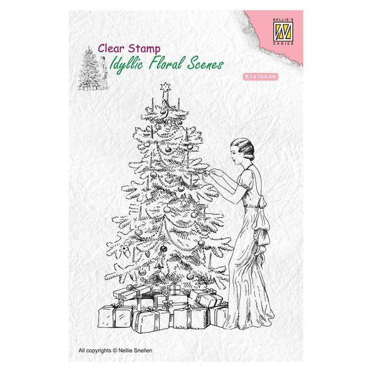 Nellie's Choice Clear Stamp Vintage Christmas
