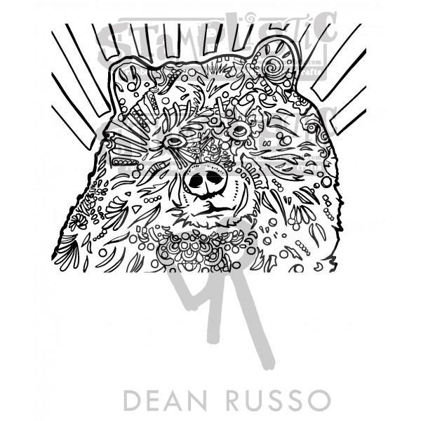 Grizz Rubber Stamp Dean Russo