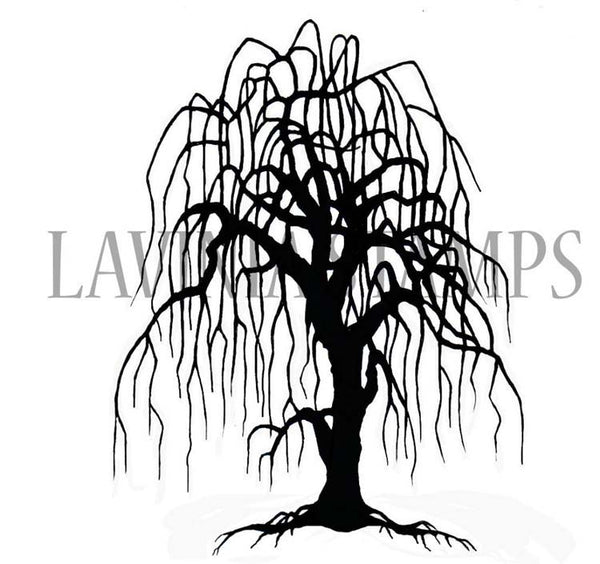 Lavinia Stamp - Weeping Willow Tree