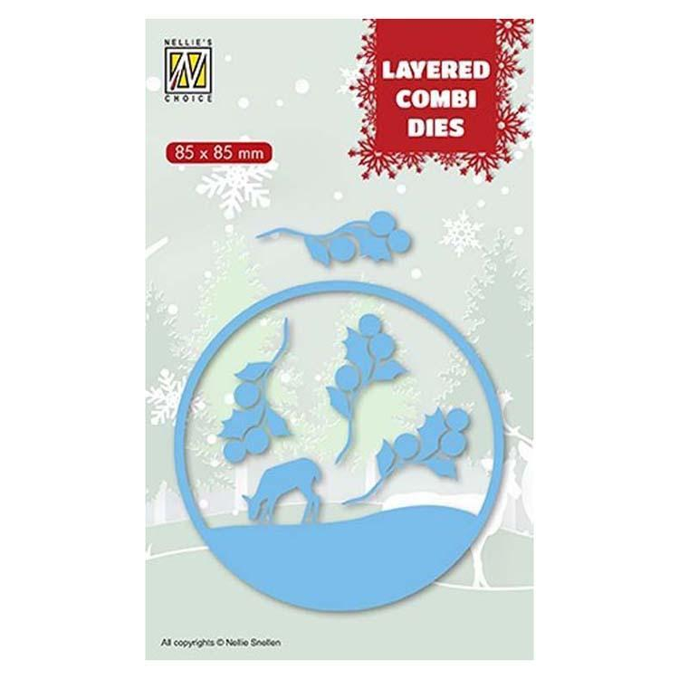 Nellie's Choice Layered Combi Dies Round Deer B