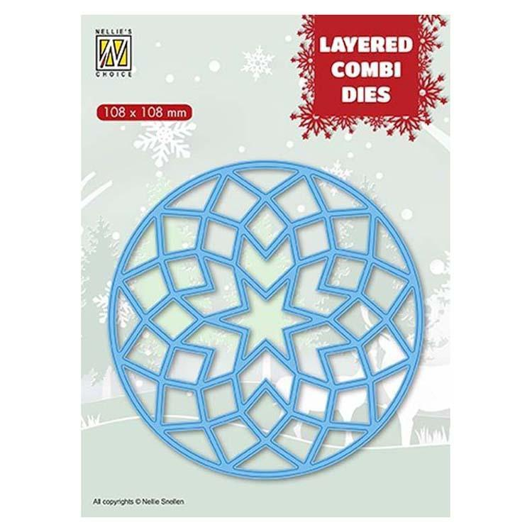 Nellie's Choice Layered Combi Dies Round Stars A