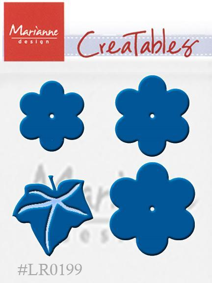 Marianne Design: Creatables Dies - Extra Large Flower Set With Leaf