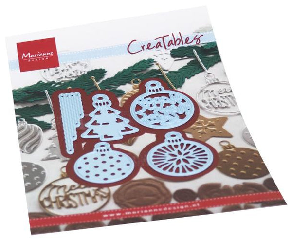 Creatables Merry Christmas Baubles Dies