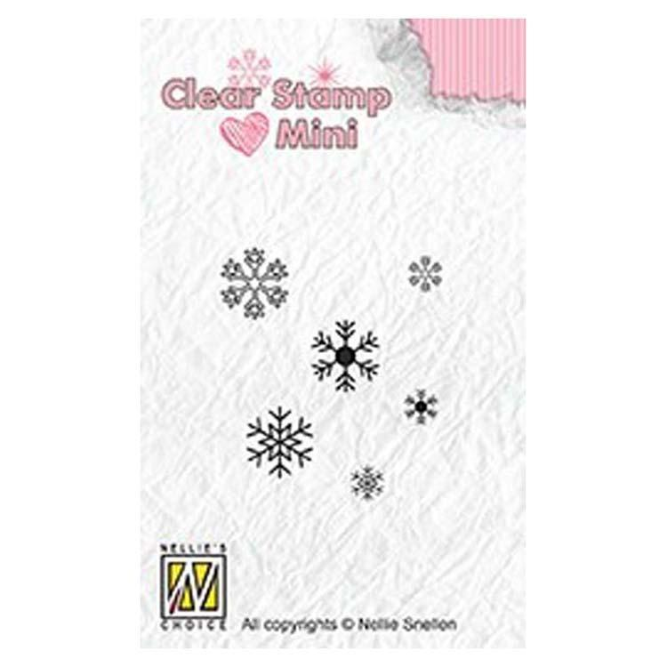 Nellie's Choice Clear Stamp Minis Snowflakes