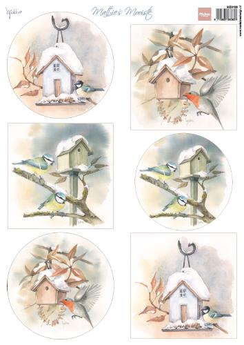 Cutting Sheet Mattie's Mooiste Birdhouses A4