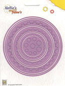 Nellie's Choice - Multi Frame Die Set- Stitched Doily Circle Edge