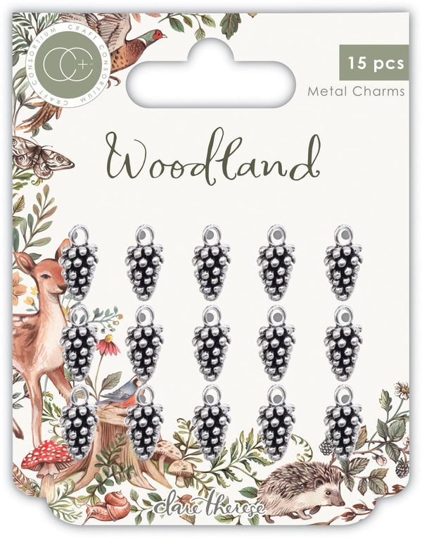 Woodland Silver Pine Comb Charms