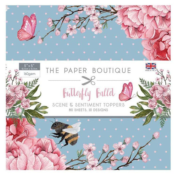 The Paper Boutique Butterfly Ballet 5x5 Sentiments Pad