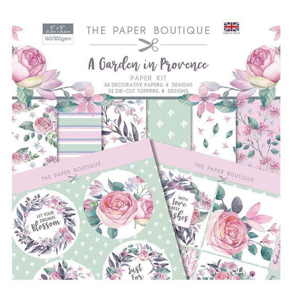 The Paper Boutique A Garden in Provence Paper Kit