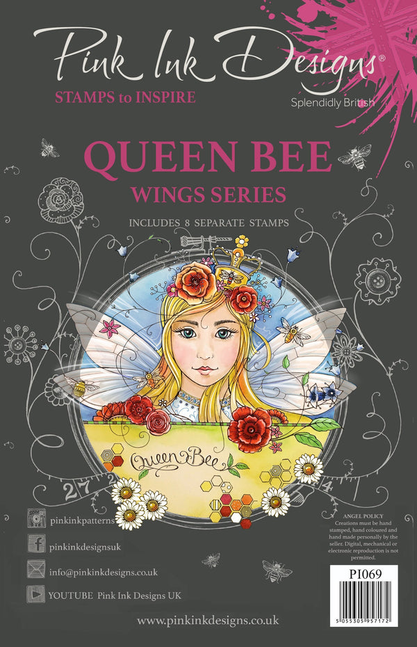 Queen Bee A5 Clear Stamp Set